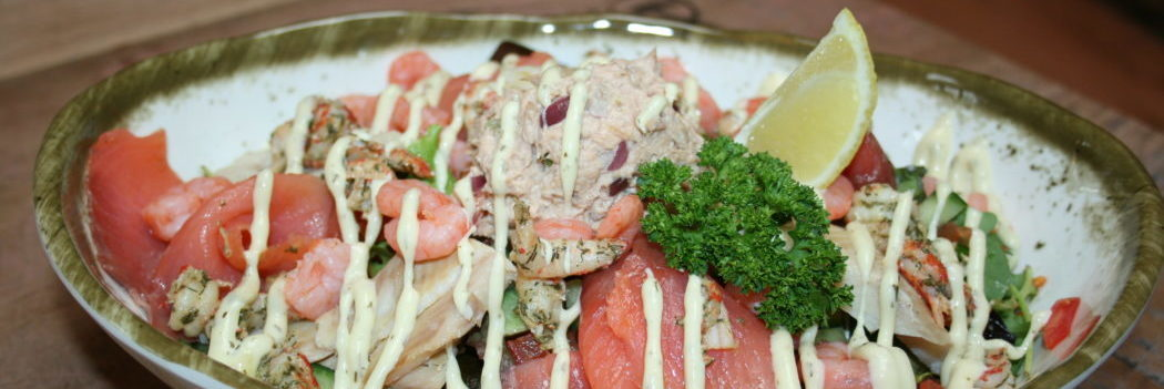 Lunch en diner kaart Lunch en diner op strand