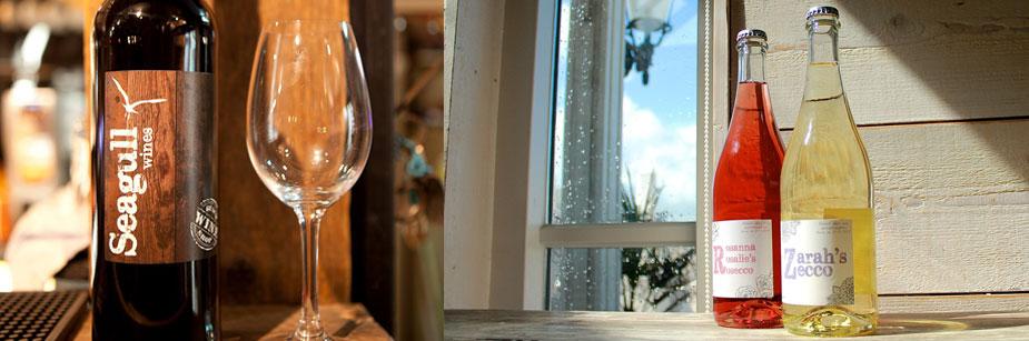 Drinks & wine wijnen en dranken strandpaviljoen De Zeemeeuw